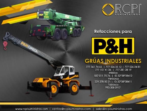 Refacciones para grúas industriales P&H
