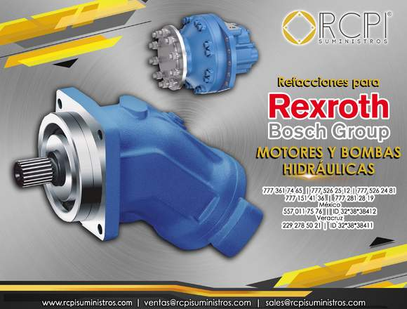 Motores hidráulicos Rexroth para grúas