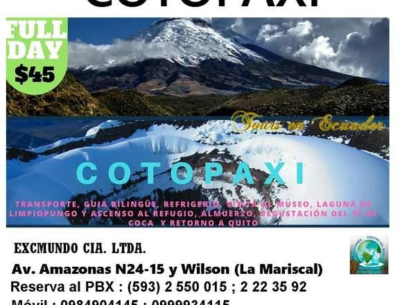 TOUR COTOPAXI ECUADOR