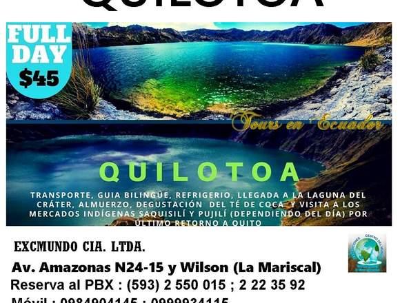 TOUR QUILOTOA ECUADOR