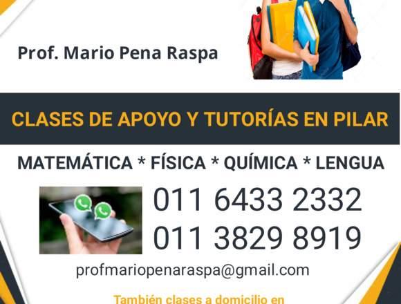 CLASES DE APOYO Y TUTORIAS TODO EL AÑO EN PILAR