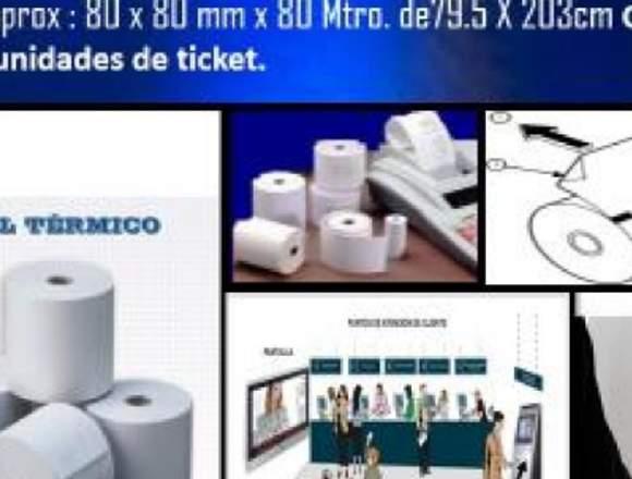 ROLLOS DE PAPEL TERMICO 8mm*8mm*80