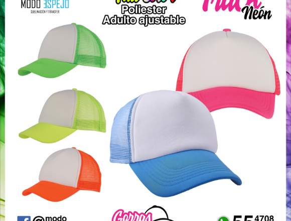 Gorras promocionales sublimadas o con transfer