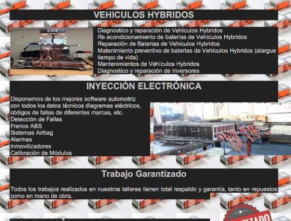 reparación y mantenimiento de Vehículos Hybridos