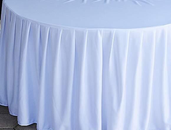 Bambalina Media Luna para vestir Mesa de Novios