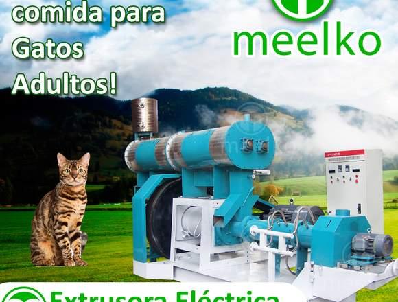 Extrusora para pellets alimento para gatos