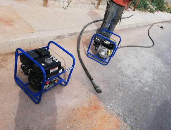 Vibrador d concreto a gasolina con chicote