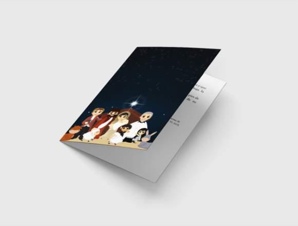 Imprenta en lima , Tarjetas de navidad A6-A5