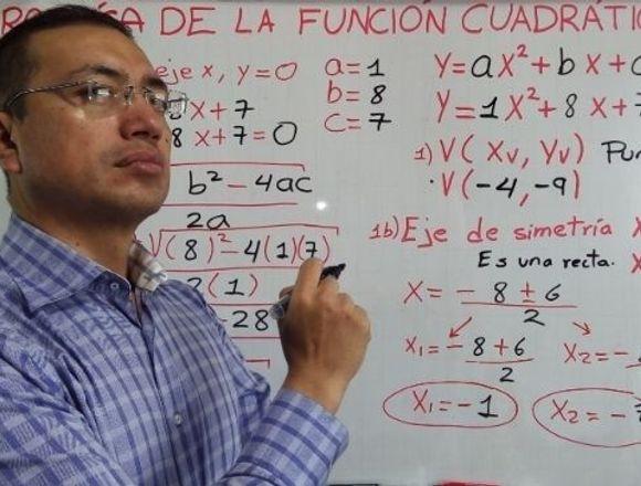 Clases particulares de Matemática,física y química
