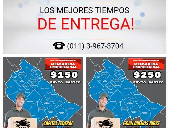Servicios de mensajería en moto  envíos Caba y GBA