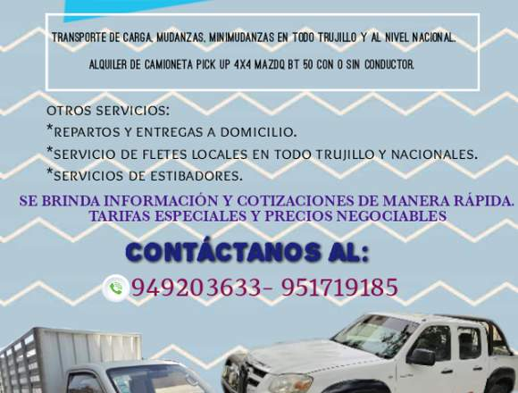 SERVICIO DE TRANSPORTE-MUDANZA