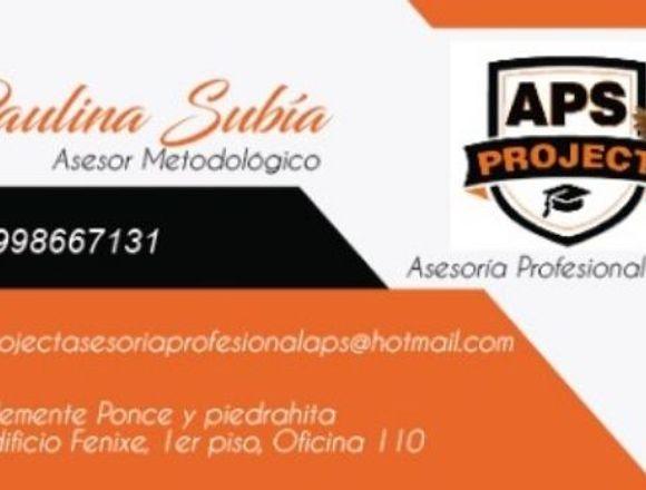 Project.APS Profesionales en Tesis