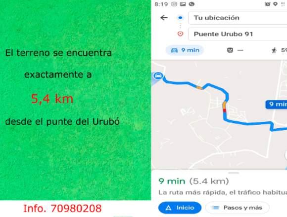 18 hectáreas a 5,4 km del puente del Urubo