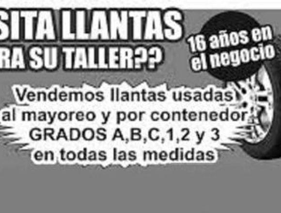 MAYOREO DE LLANTAS USADAS IMPORTADAS