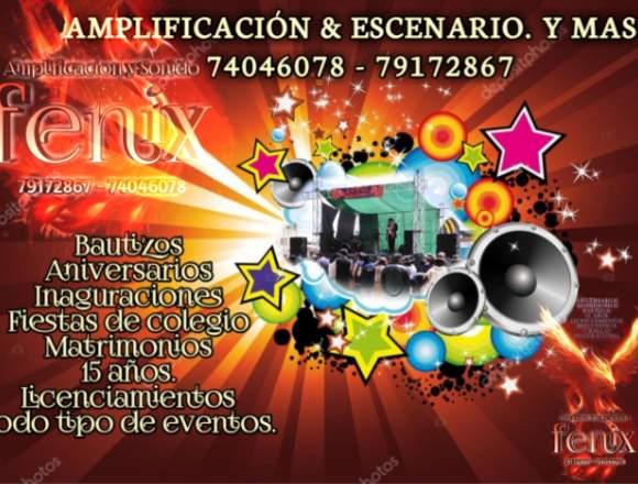 amplificacion - tarima  escenario El Alto y La Paz