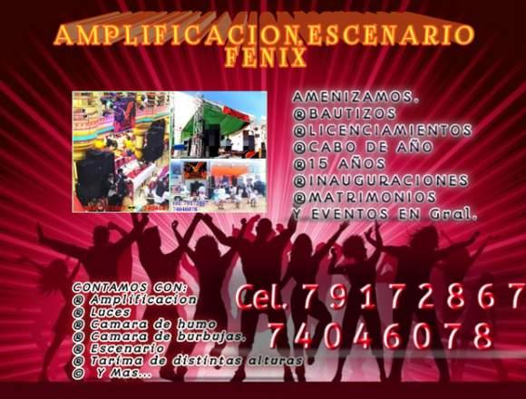 Amplificacion - tarima - escenario fenix 79172867
