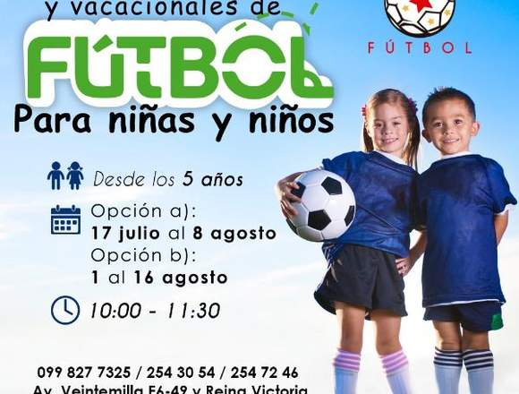 Curso de fútbol para niños y niñas
