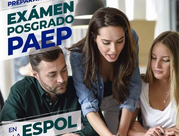 Prepárate  Examen de POSGRADO PAEP en la ESPOL