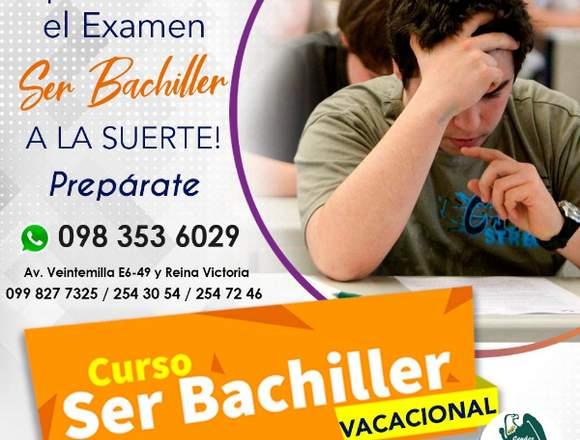 Curso Examen Ser Bachiller Quito