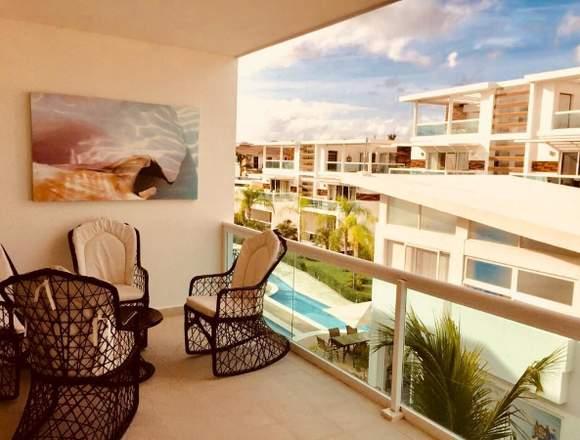 Disponible apartamento amueblado en los corales..