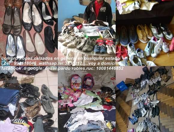 compro ropas y cosas que ya no dan uso en casa