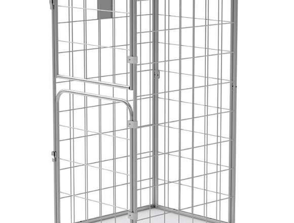 Gitter Rollcontainer mit 2 schwenkbare Türen