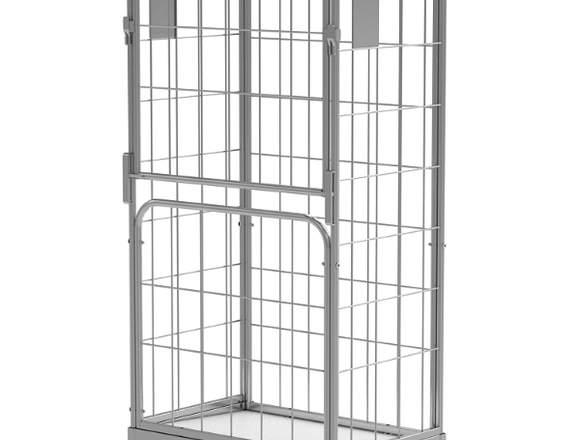 Rollcontainer  mit klappbare Tür und feste Wand