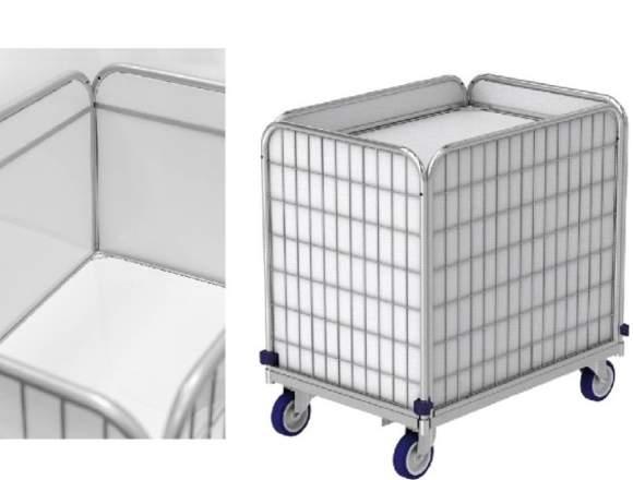Federbodenwagen, Wäschewagen für Wäschelogistik.