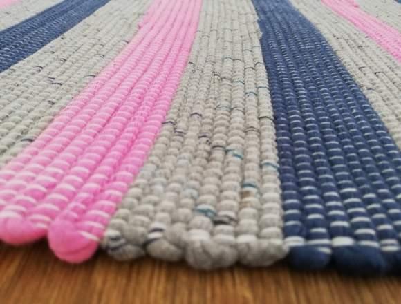 Mantas e tapetes artesanais 100% algodão