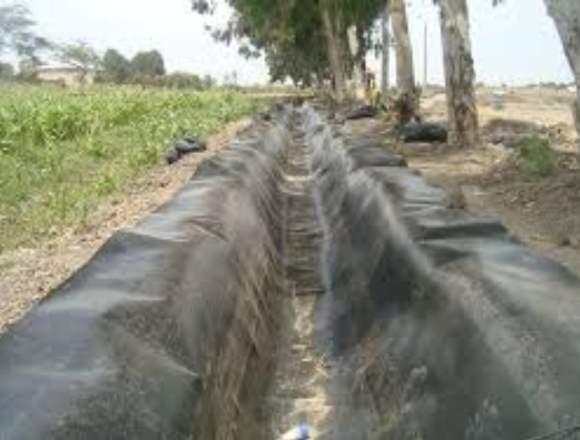 Geomembrana Plástico para almacenar agua