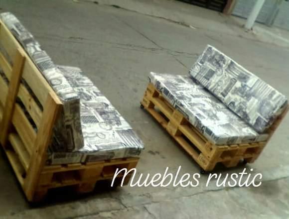 MUEBLES EN ESTIBAS Y MADERA