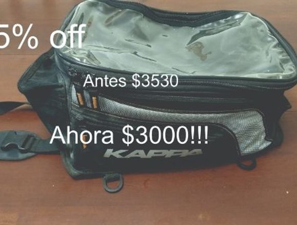 BOLSO TANQUE MAGNETICO KAPPA!!! 15% off