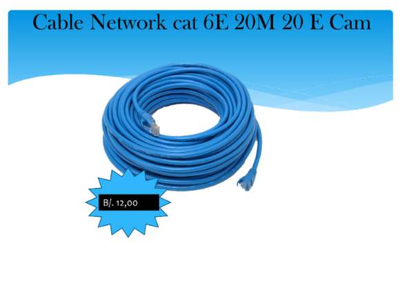 CABLE DE RED DE 20 Metros