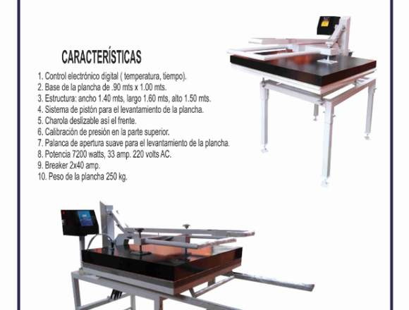 SUBLIMADORA MANUAL INDUSTRIAL .90 MTS X 1.00
