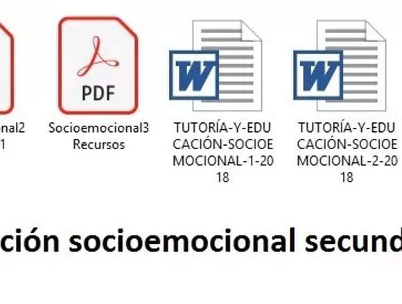 Educación Socioemocional Primaria Secundaria