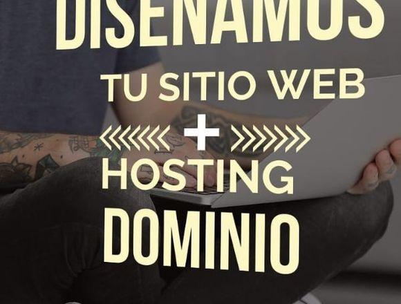 diseño de pagina web + hosting+dominio