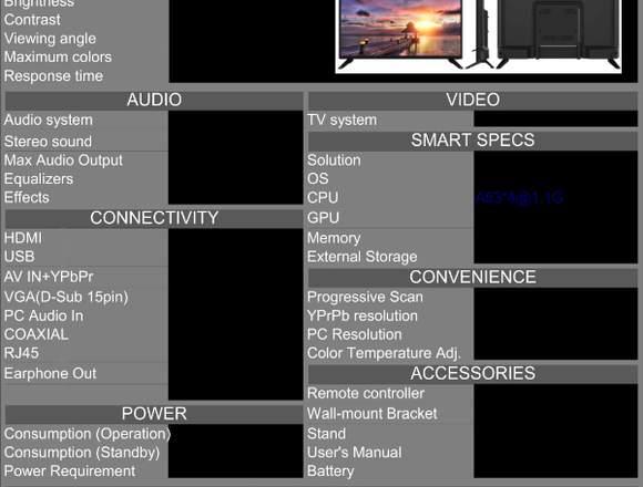 TELEVISOR EXCLUSIV 32 PULGADAS SMART TV