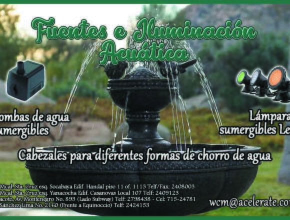 ¡Fuentes e Iluminación Acuática!