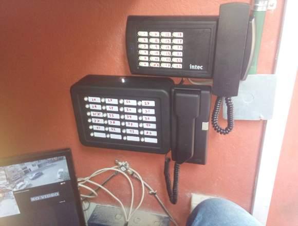 Interfón,videoportero,cerca eléctrica,chapas,etc.
