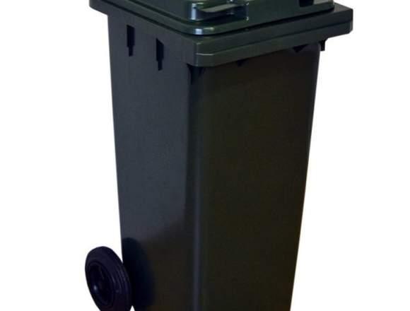 Basurero Plástico Gris 240L