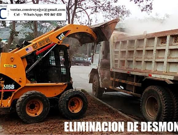 ELIMINACIÓN DE DESMONTE