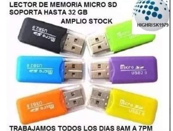lector memoria micro sd tipo pendrive