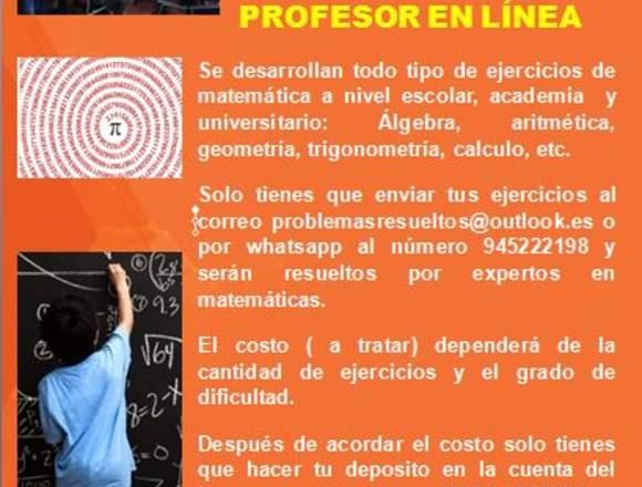 Matematicas:Problemas resueltos