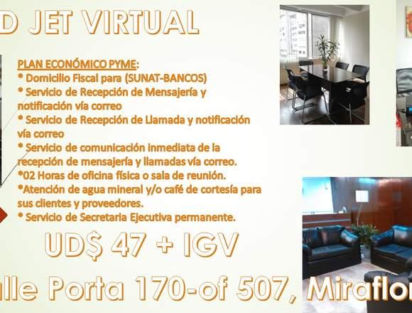 Alquiler de oficina administrativa en Miraflores