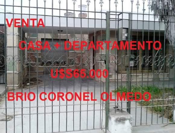VENDO CASA CON DEPARTAMENTO BARRIO CORONEL OLMEDO