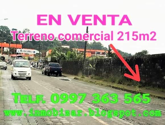 VENDO LOTE COMERCIAL 215M2 SECTOR ALTA PLUSVALÍA