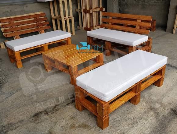 Alquiler mobiliario rustico eventos