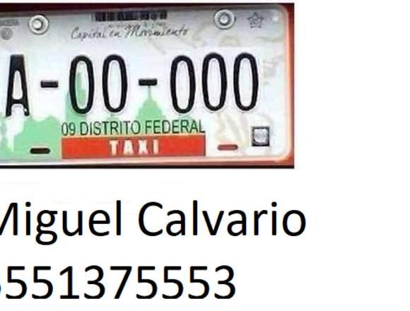 Renta de placas de Taxi para CDMX