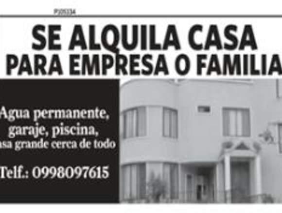 Se Renta Casa para Familia o Empresa