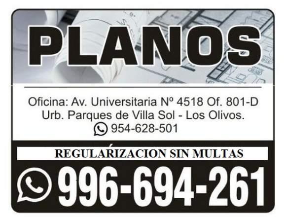 PLANOS, REGULARIZACIONES LICENCIA DE EDIFICACIÓN